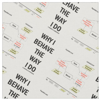 Why I Behave The Way I Do Chart Diagram Fabric