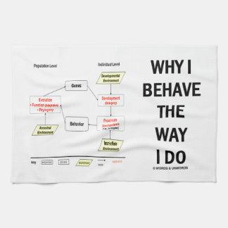 Why I Behave The Way I Do Sociobiology Hand Towel