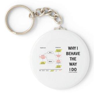 Why I Behave The Way I Do (Sociobiology) Key Chain