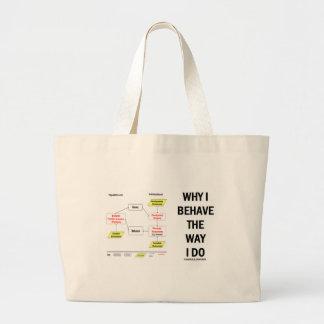 Why I Behave The Way I Do (Sociobiology) Large Tote Bag