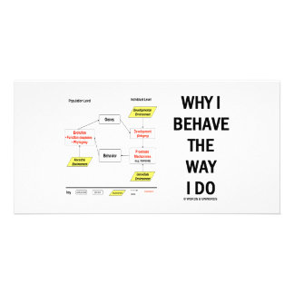 Why I Behave The Way I Do (Sociobiology) Customized Photo Card