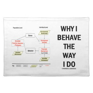 Why I Behave The Way I Do Sociobiology Cloth Place Mat