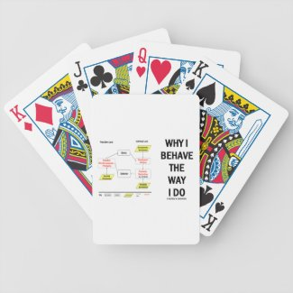 Why I Behave The Way I Do Sociobiology Bicycle Playing Cards