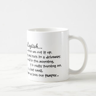 Why I Love English mug