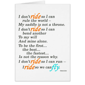 Why I Ride Greeting Card