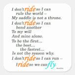 Why I Ride Sticker