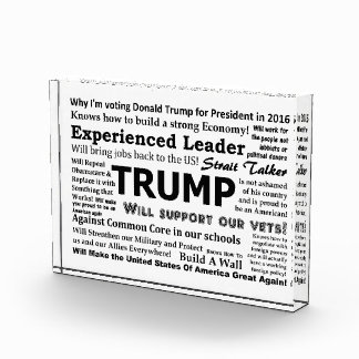 Why I'm voting for Donald Trump Acrylic Award