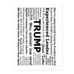 Why I'm voting for Donald Trump Postcard