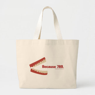 Why is 6 afraid of 7? tote bags