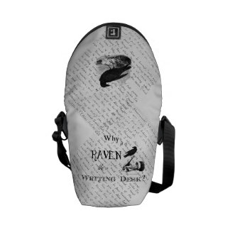 """Why is a Raven like a Writing Desk?"" Bag Messenger Bag"