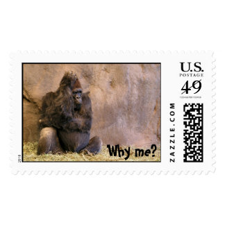Why me? postage stamp