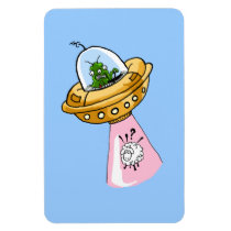 Why Me? UFO Sheep Abduction Premium Flexi Magnet