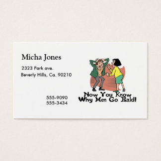 Why Men Go Bald Business Card