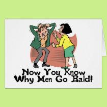 Why Men Go Bald Card