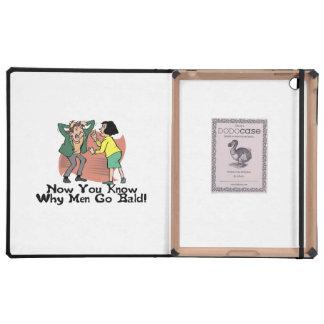 Why Men Go Bald iPad Folio Case