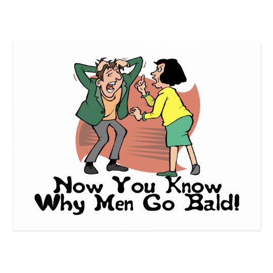 Why Men Go Bald Postcard