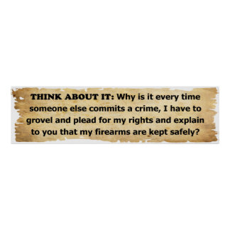 Why Must I Plead For My 2nd Amendment Rights? Poster