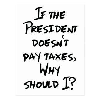 Why Pay Taxes? Postcard