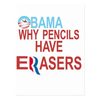 Why Pencils Have Erasers Postcard