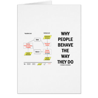 Why People Behave The Way They Do Greeting Card