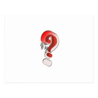 Why Question mark Postcard
