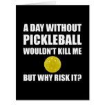 Why Risk It Pickleball Card