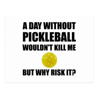 Why Risk It Pickleball Postcard
