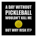 Why Risk It Pickleball Poster