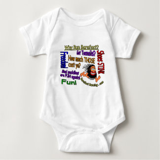 Why Run Barefoot? Baby Bodysuit