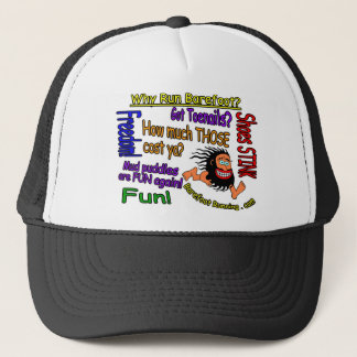 Why Run Barefoot? Trucker Hat