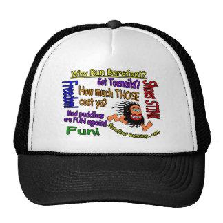 Why Run Barefoot? Trucker Hat