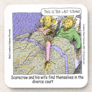 Why Scarecrows Divorce Funny Beverage Coaster