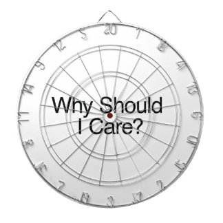 Why Should I Care? Dart Board