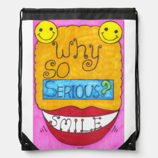 Why So Serious? Drawstring Backpack