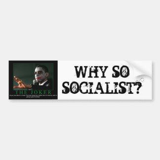 WHY SOSOCIALIST? CAR BUMPER STICKER