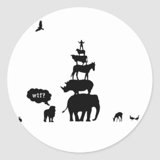 Why Take Freedom? Animal Stack. Classic Round Sticker