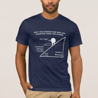 Why The Haggis Has One Leg Shorter Than The Other T-shirt at Zazzle