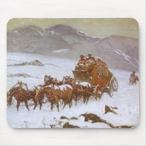 Why the Mail Was Late by Berninghaus, Vintage West Mouse Pads