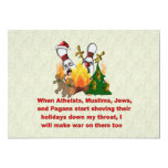 Why There's War On Christmas 5x7 Paper Invitation Card