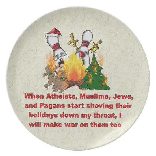 Why There's War On Christmas Plate