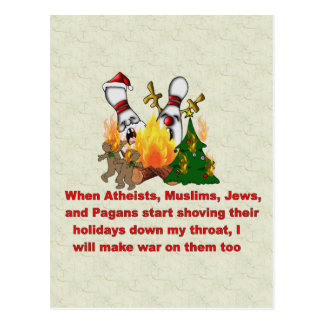 Why There's War On Christmas Postcard