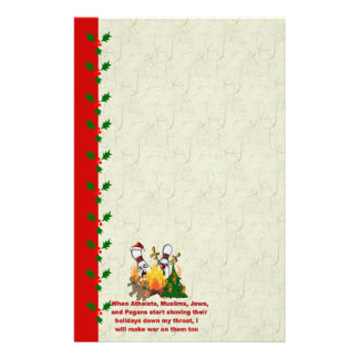 Why There's War On Christmas Personalized Stationery