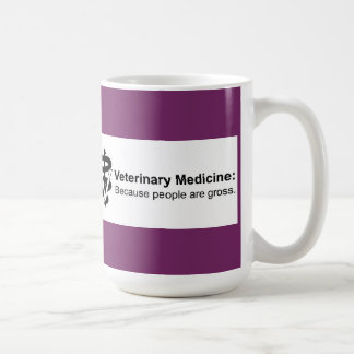Why Veterinary Medicine? 15 oz.Fuchsia Striped Mug