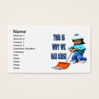 Why We Had Kids Business Card