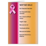Why We Walk for a Cure Card