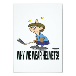 Why We Wear Helmets Card