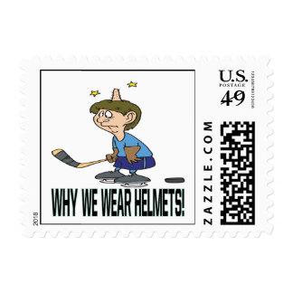 Why We Wear Helmets Stamp
