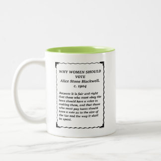 Why Women Should Vote - Stone Blackwell Two-Tone Coffee Mug