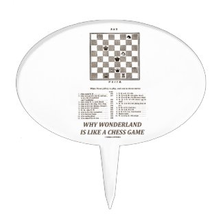 Why Wonderland Is Like A Chess Game (Preface) Cake Toppers