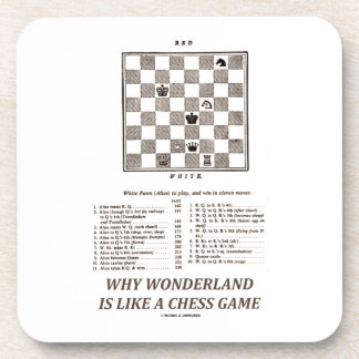 Why Wonderland Is Like A Chess Game (Preface) Drink Coasters